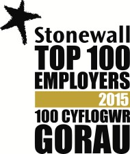Stonewall top 100 employers 2015 logo