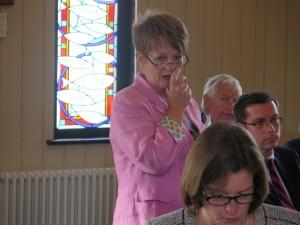 Jocelyn Davies AM at the workshop