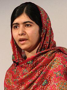 Delwedd o Malala Yousafzai