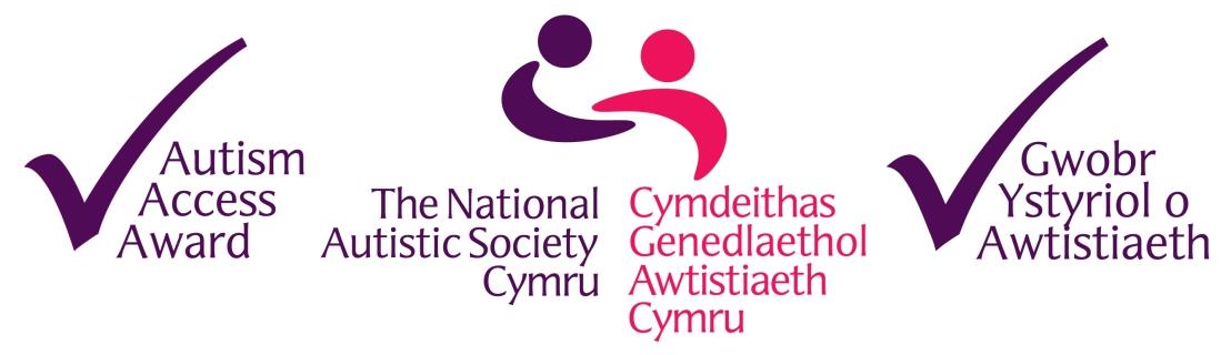 Logo Gwobr Mynediad Cymdeithas Genedlaethol Awtistiaeth