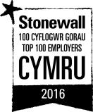 Logo 100 Cyflogwr Gorau Stonewall