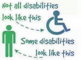 Not all disabilities look like this image