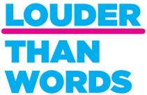 Logo Nod Siarter 'Yn Uwch na Geiriau' Action on Hearing Loss Cymru