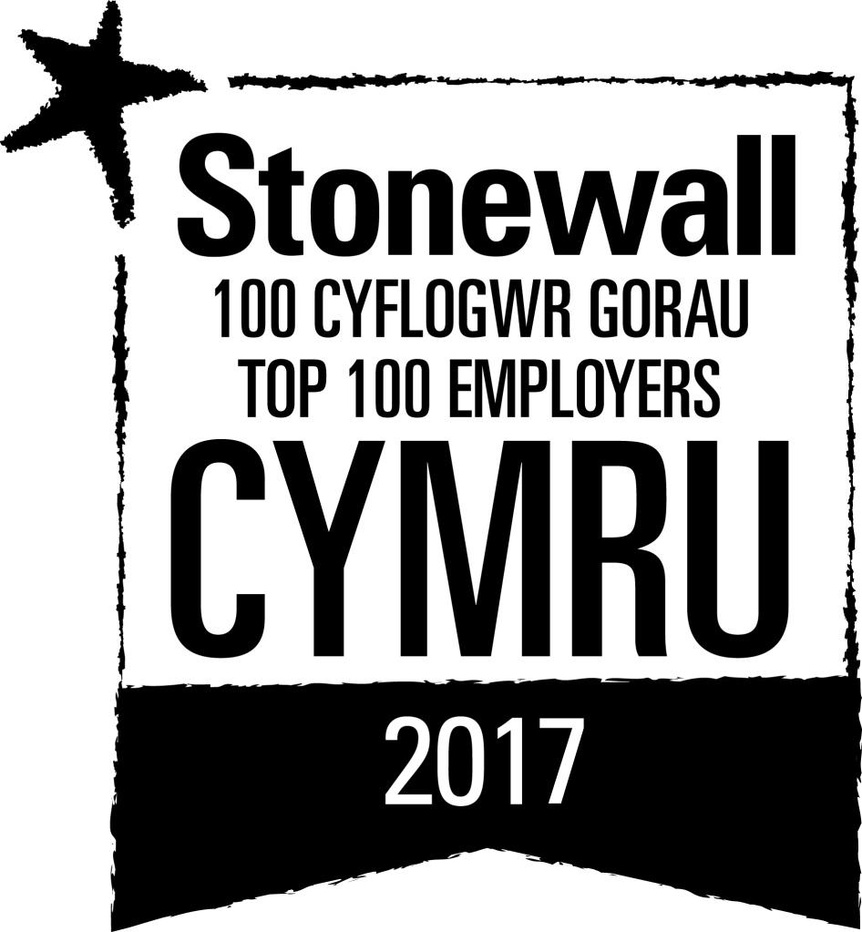 Logo - Stonewall 100 Cyflogwr Gorau