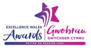 Logo Gwobrau Gwychder Action on Hearing Loss Cymru