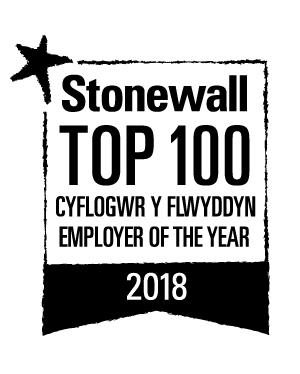 Logo Stonewall - Cyflogwr Y Flwyddyn