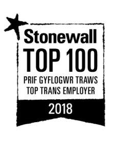 Logo stonewall - Prif Gyflogwr Traws