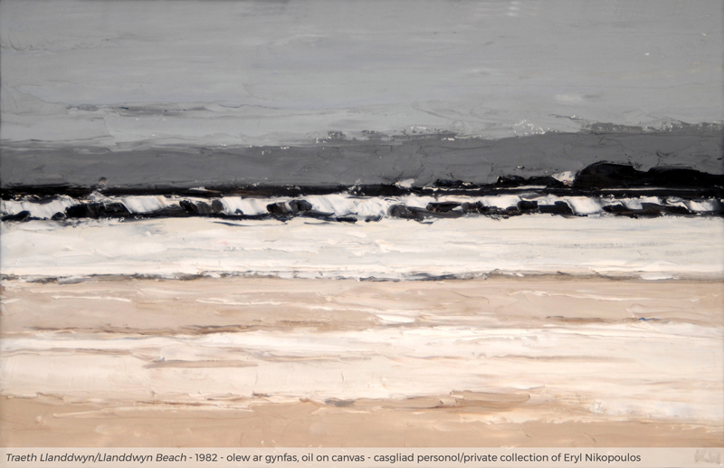 Image of Llanddwyn Beach/Traeth Llanddwyn by/gan Kyffin Williams private collection of Eryl Nikopoulos