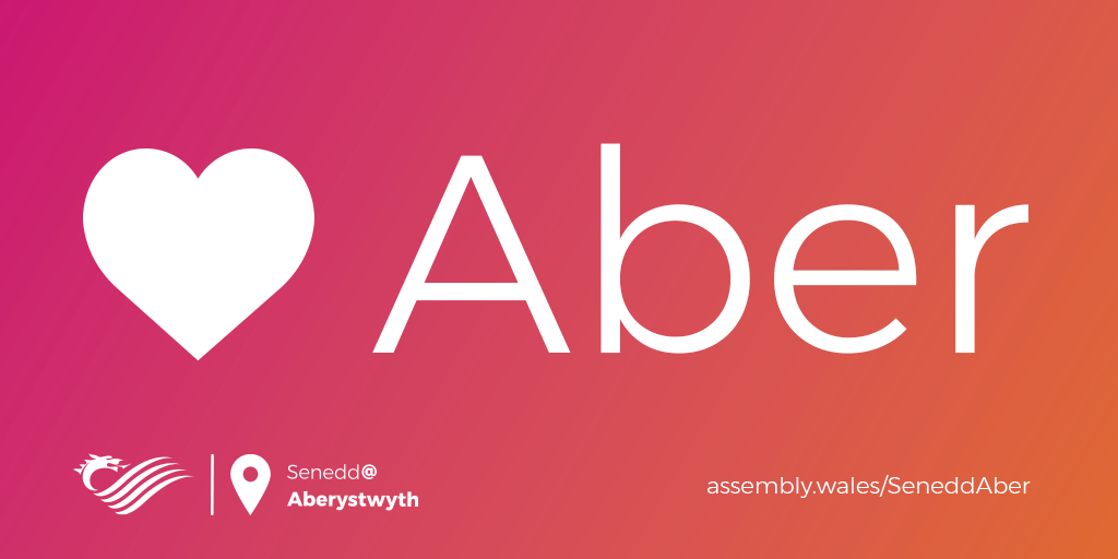Senedd@ Aber Logo